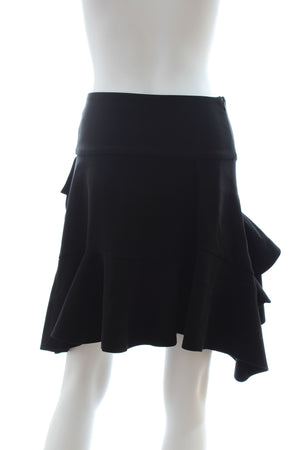 Balenciaga Ruffled Crepe Mini Skirt
