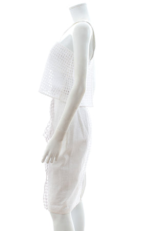 3.1 Phillip Lim Broderie Anglaise Cotton Top and Skirt