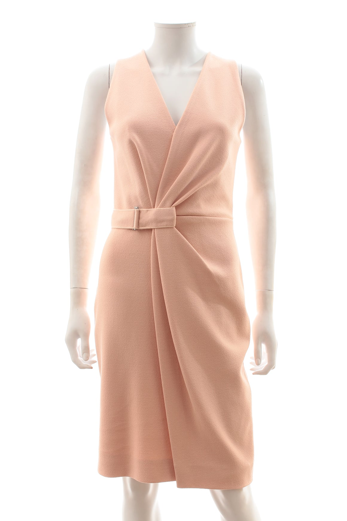 Dion Lee Draped Belted Crepe Dress