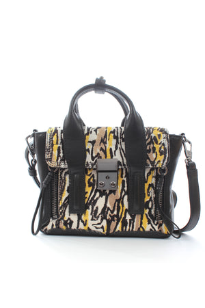 3.1 Phillip Lim Pashli Mini Printed Calf Hair and Leather Satchel