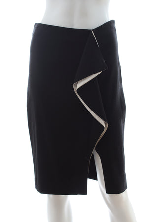 Prabal Gurung Ruffle-Front Pencil Skirt