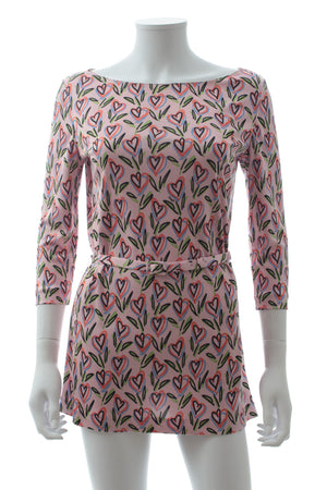 Prada Silk Heart-Print Top