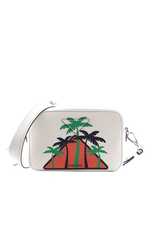Prada Palm Tree Leather Shoulder Bag