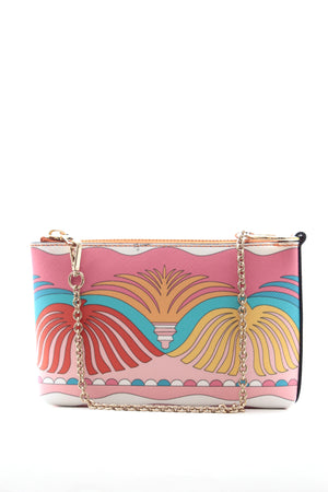 Emilio Pucci Abstract Printed Leather Mini Bag