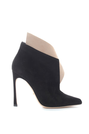 Sergio Rossi Two-Tone Suede Ankle Boots