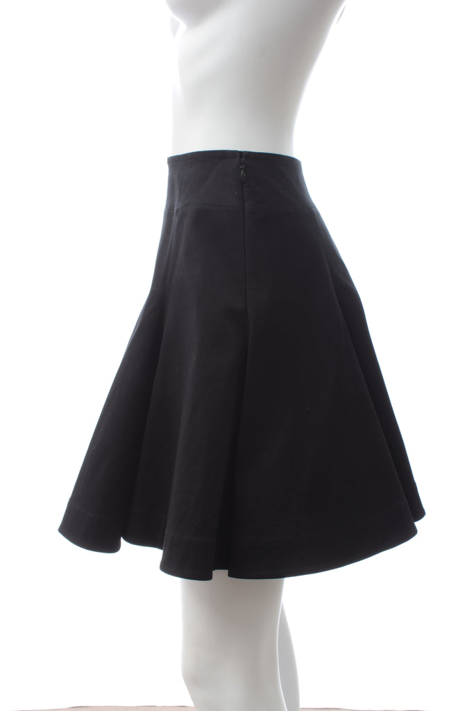 Alaïa Pleated Cotton-Blend Skirt
