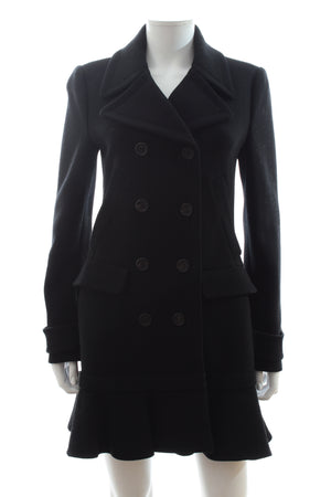 Prada Wool Tailored Long Coat