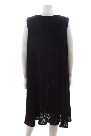 Alaïa Stretch-Knit Metallic Sleeveless Dress