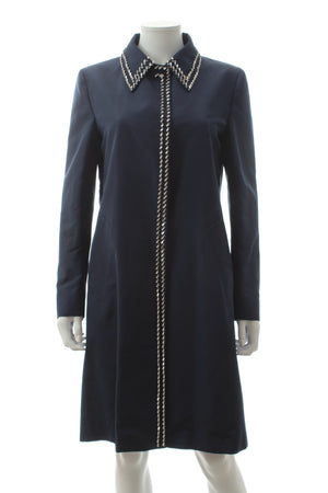 Prada Bead-Embellished Silk Coat