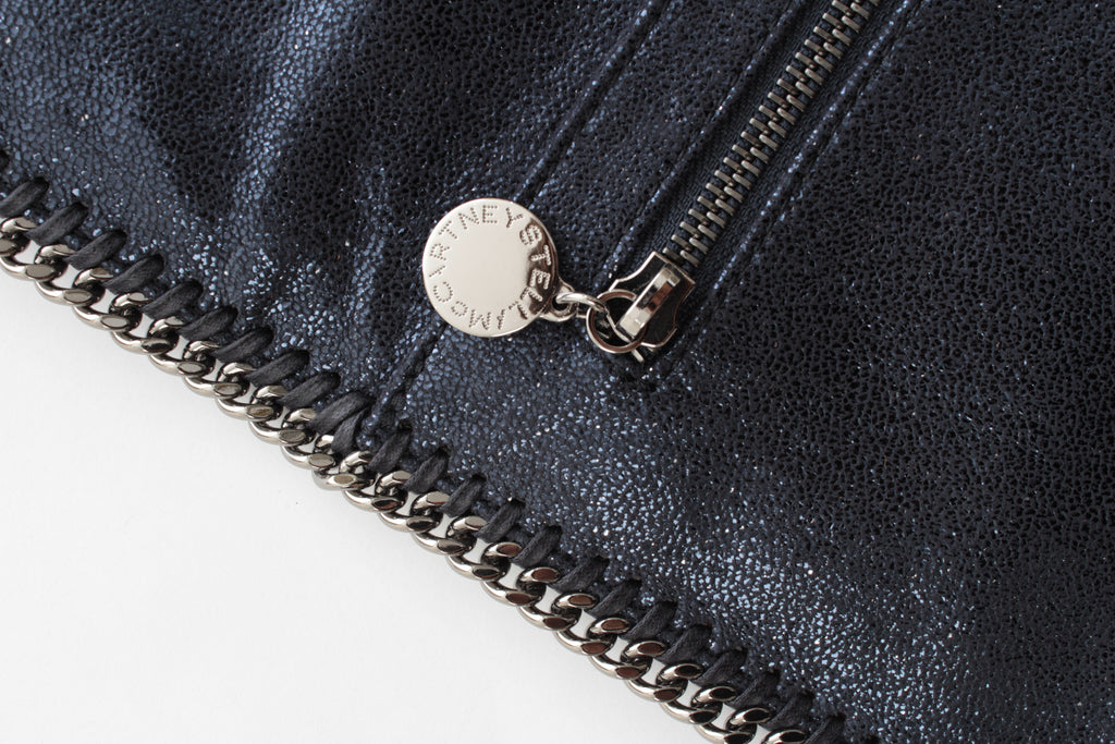 Stella McCartney Falabella Metallic Fold-Over Zip Clutch