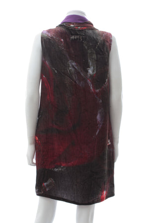 Fendi Draped Neck Velvet Shift Dress