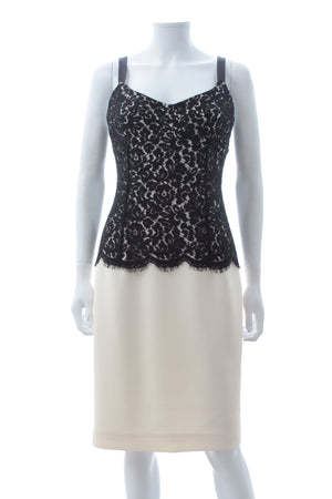 Michael Kors Collection Lace-Detailed Wool Dress