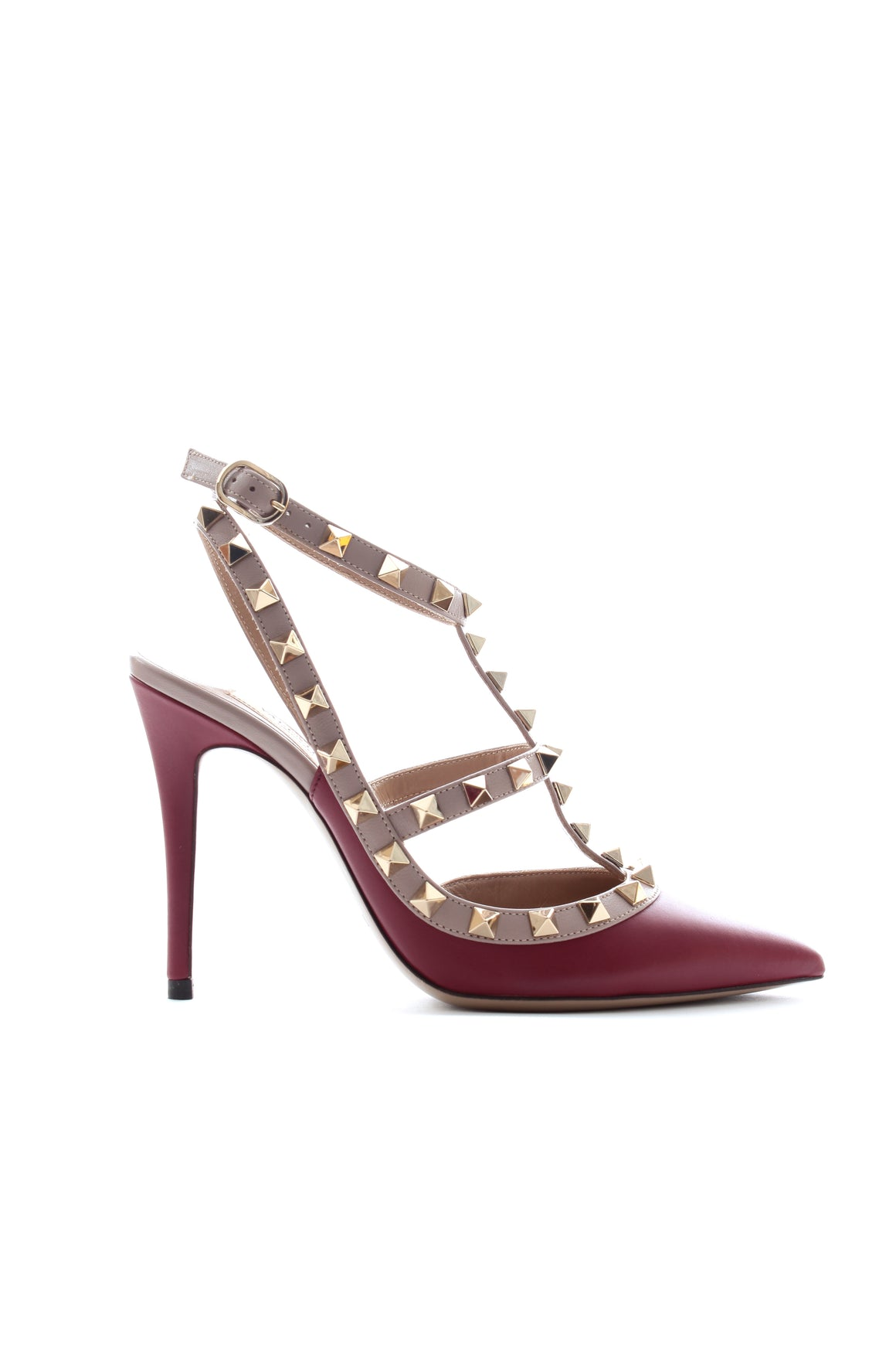 Valentino Garavani Rockstud 100 Two-Tone Leather Pumps