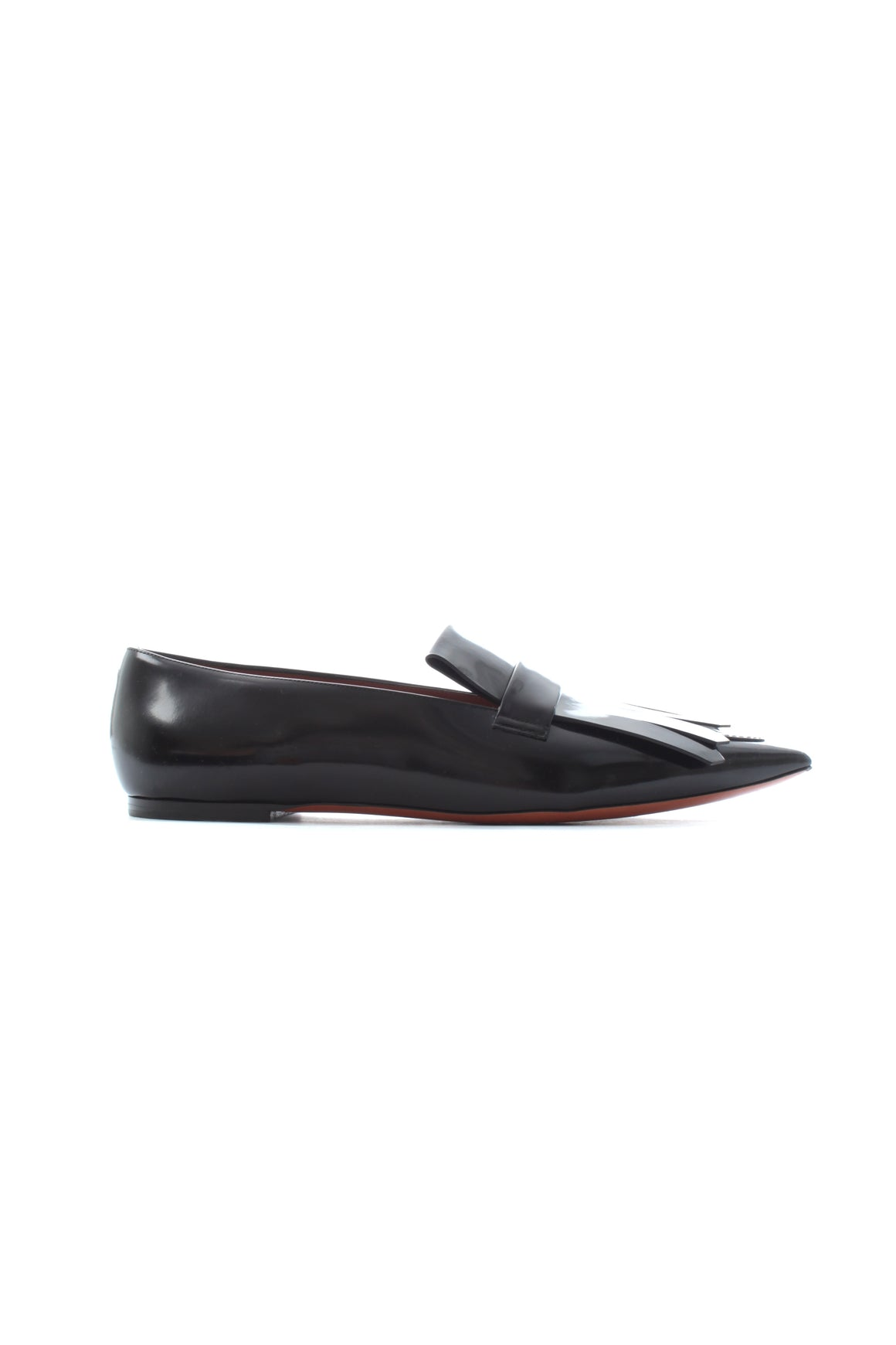 Celine 'Masculin' Fringe Pointed Leather Loafers