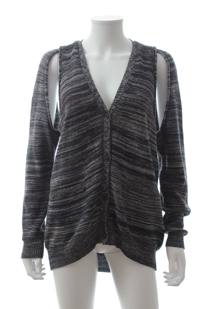 3.1 Phillip Lim Cut Out Sleeve Cotton Cardigan