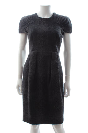 Prada Bouclé Wool Short Sleeved Dress