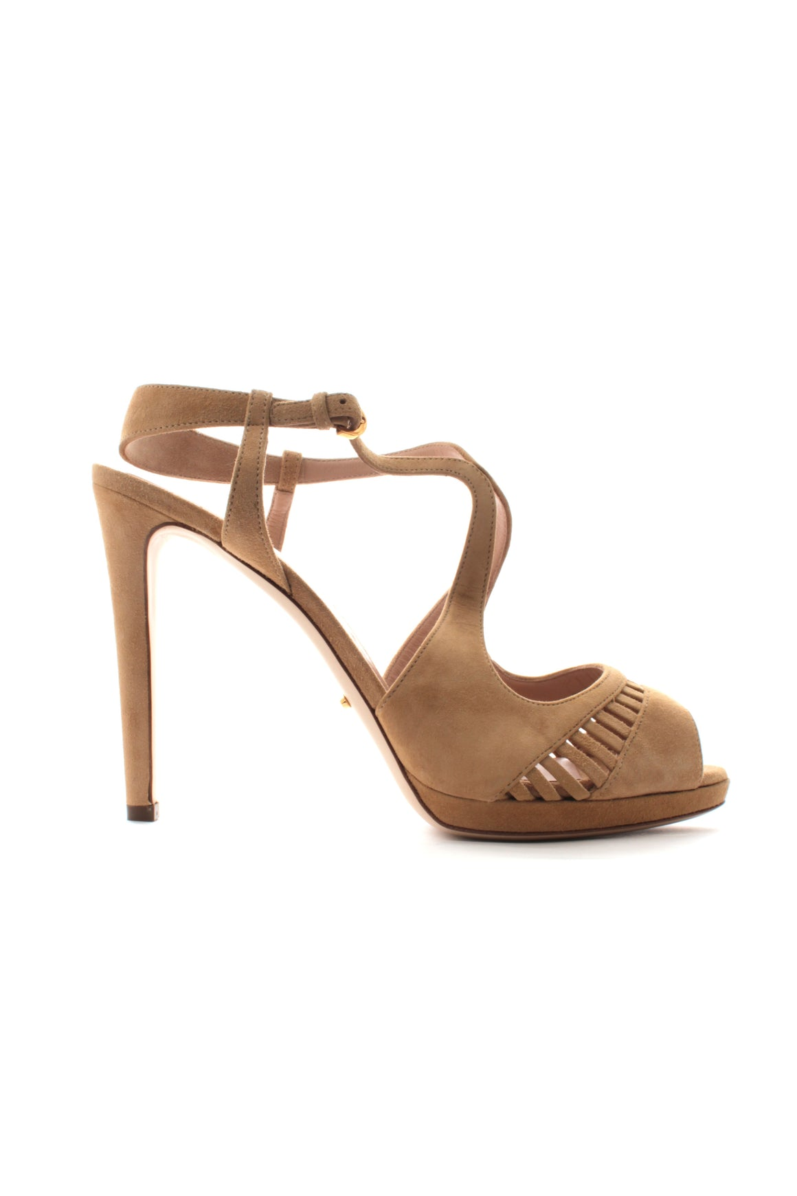 Sergio Rossi Suede Cut Out Sandals