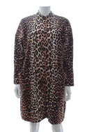 Ganni 'Fabre' Leopard Print Cotton Coat