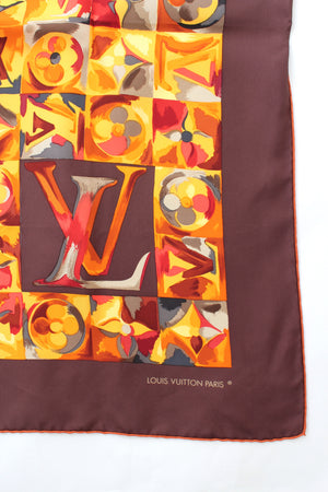 Louis Vuitton Silk Watercolour Monogram Print Scarf