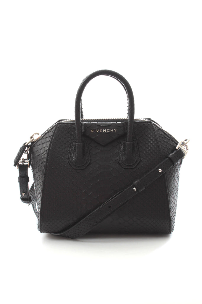 Givenchy 'Antigona' Mini Python Cross-Body Bag