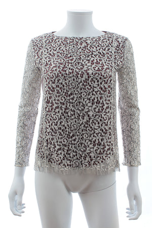 Carven Cotton-Blend Lace Top