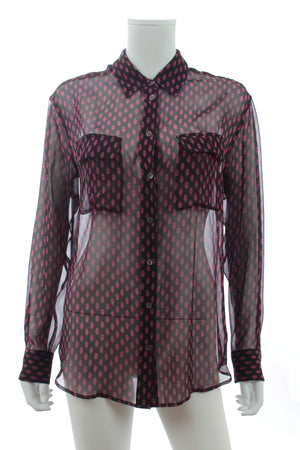 Equipment Printed Silk-Chiffon Shirt