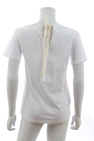 Miu Miu Lace-Trimmed Cotton T-Shirt
