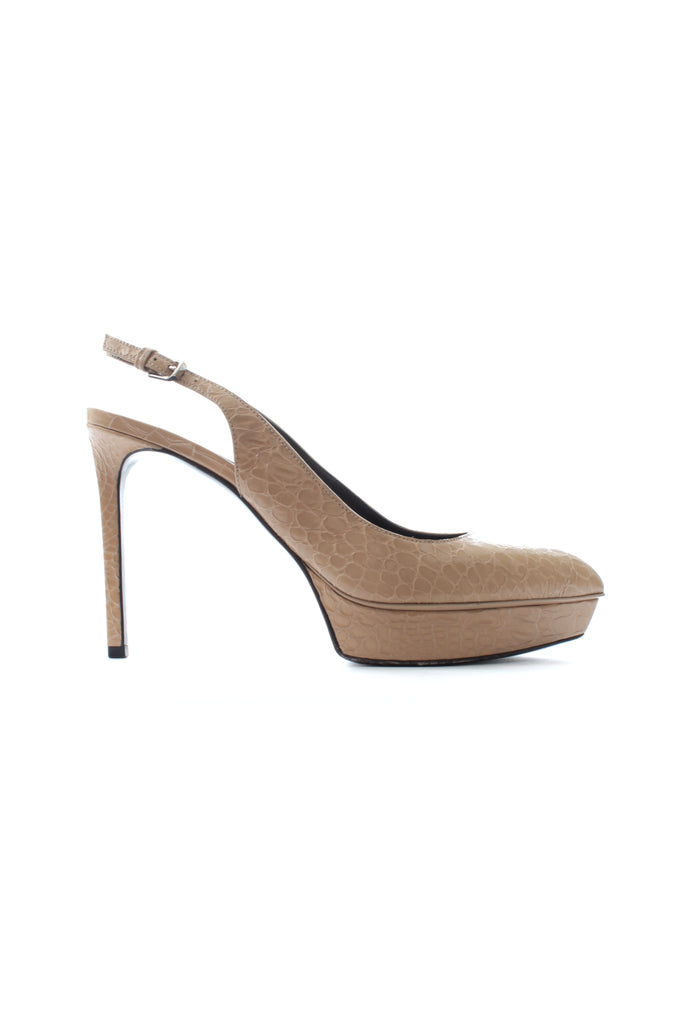 Saint Laurent Janis 80 Reptile Slingback Pumps