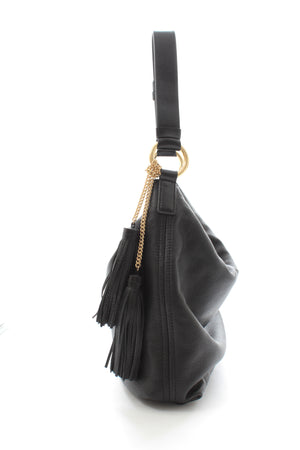 Michael Kors Leather Tassel Hobo Bag