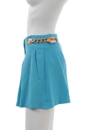 Emilio Pucci Chain-Belt Detailed Stretch-Crepe Shorts