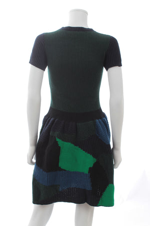Louis Vuitton Ribbed Wool-Cashmere Knitted Dress