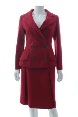 Prada Wool-Crepe Tailored Skirt Suit