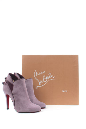 Christian Louboutin Boulogne 100 Suede Ankle Boots