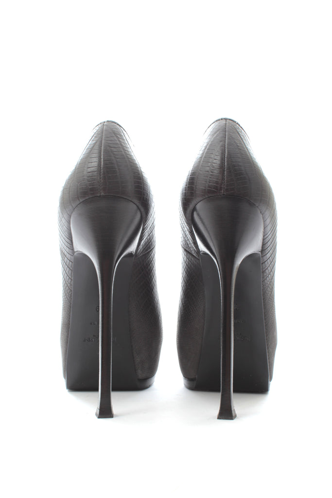 Saint Laurent Embossed Leather Tribute Pumps