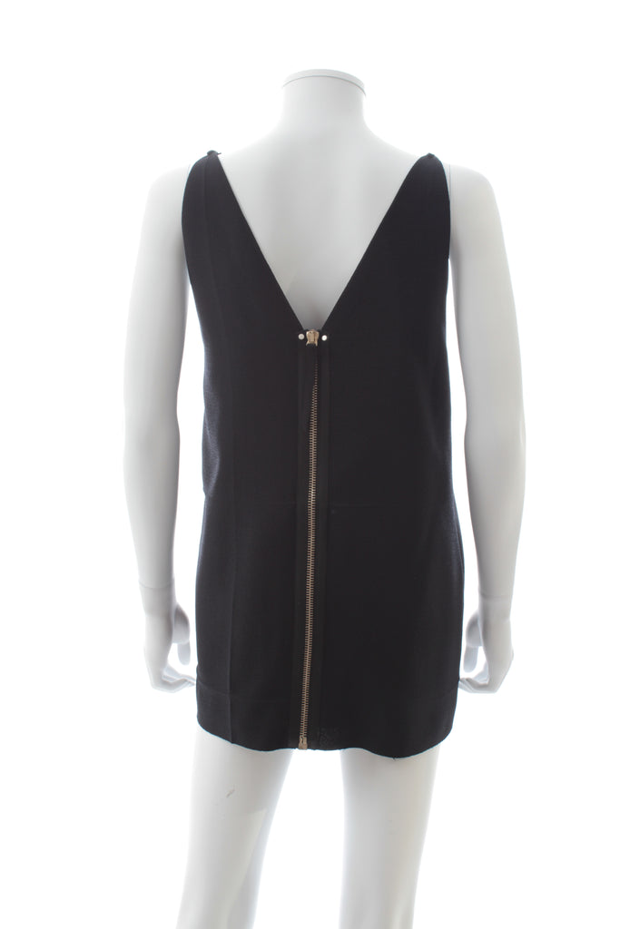 Alexander Wang Exposed Zip Back Tunic Top