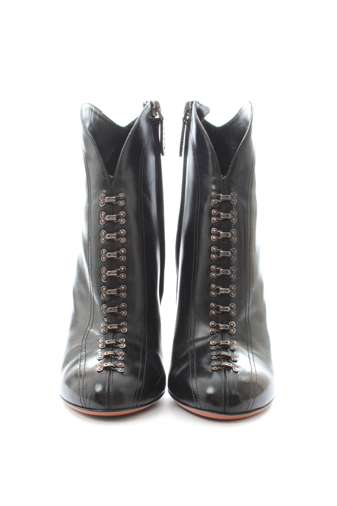Alaïa Hook-Embellished Leather Boots