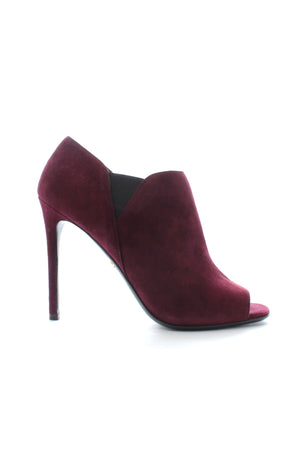 Prada Open Toe Suede Ankle Boots