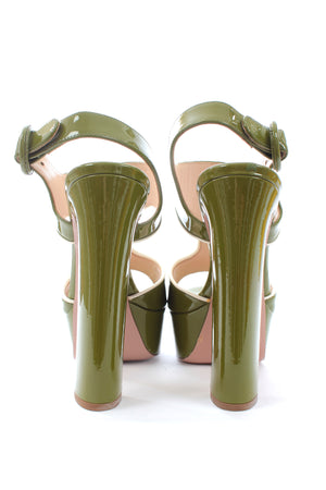 Prada Patent Leather Platform Sandals
