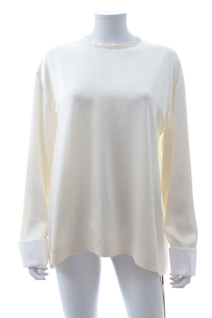 Haider Ackermann Satin-Crepe Long Sleeved Top