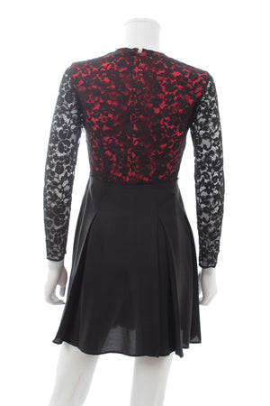 Miu Miu Lace and Silk Pleated Dress
