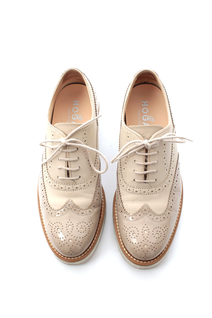 Hogan Oxford Leather Lace-Up Brogues