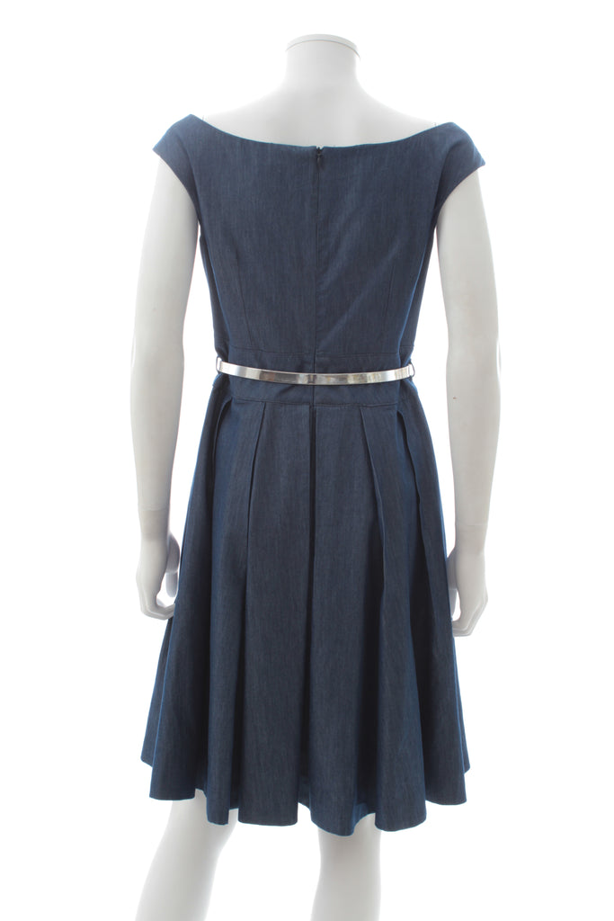 Blumarine Belted Denim Dress