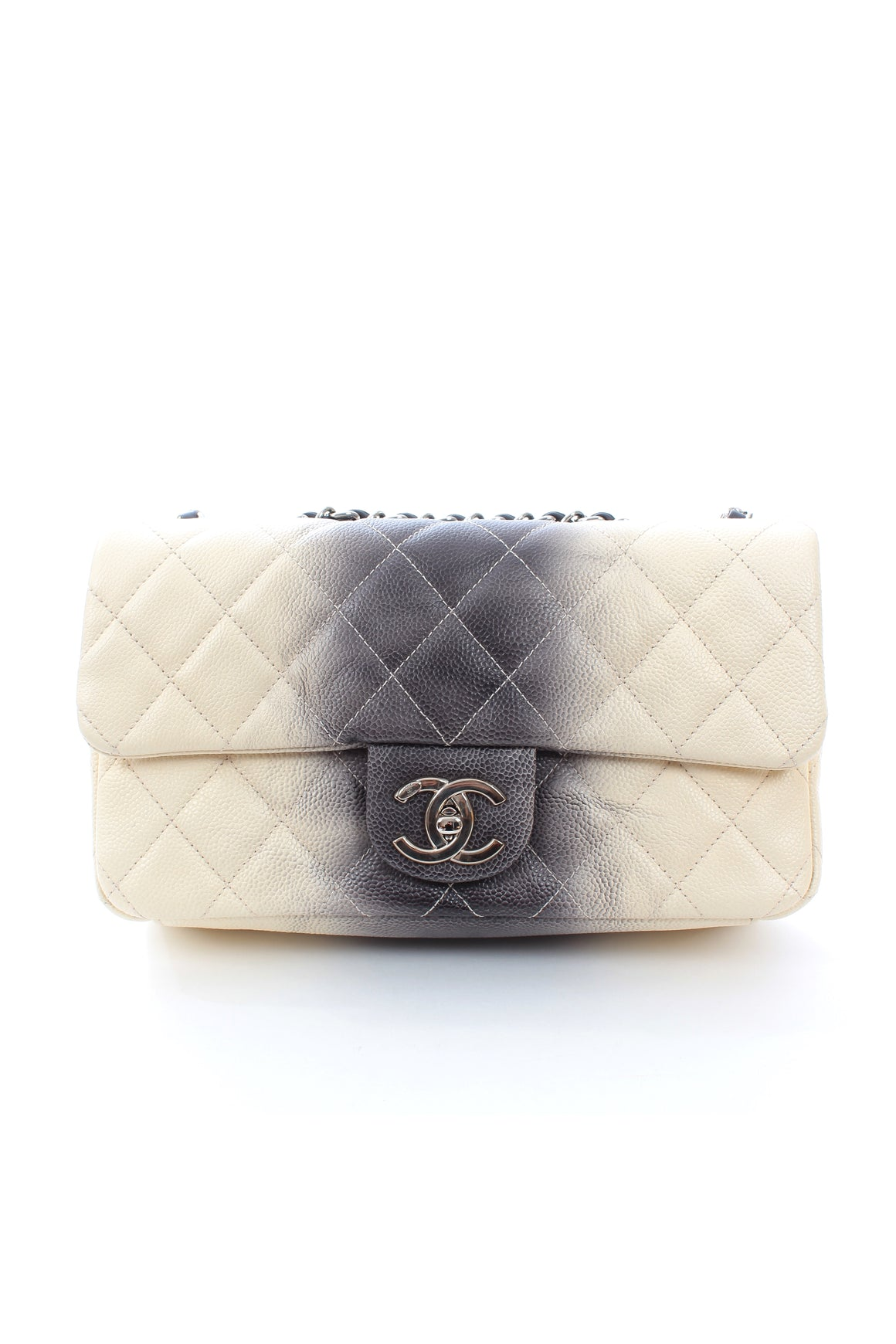Chanel Ombré Quilted Caviar Leather Flap Bag
