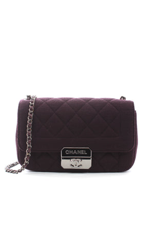 Chanel Quilted Wool Flap Shoulder Bag - Limited Edition