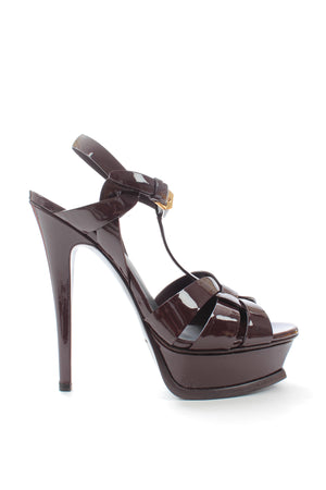 Saint Laurent Classic Tribute 105 Patent Leather Sandals