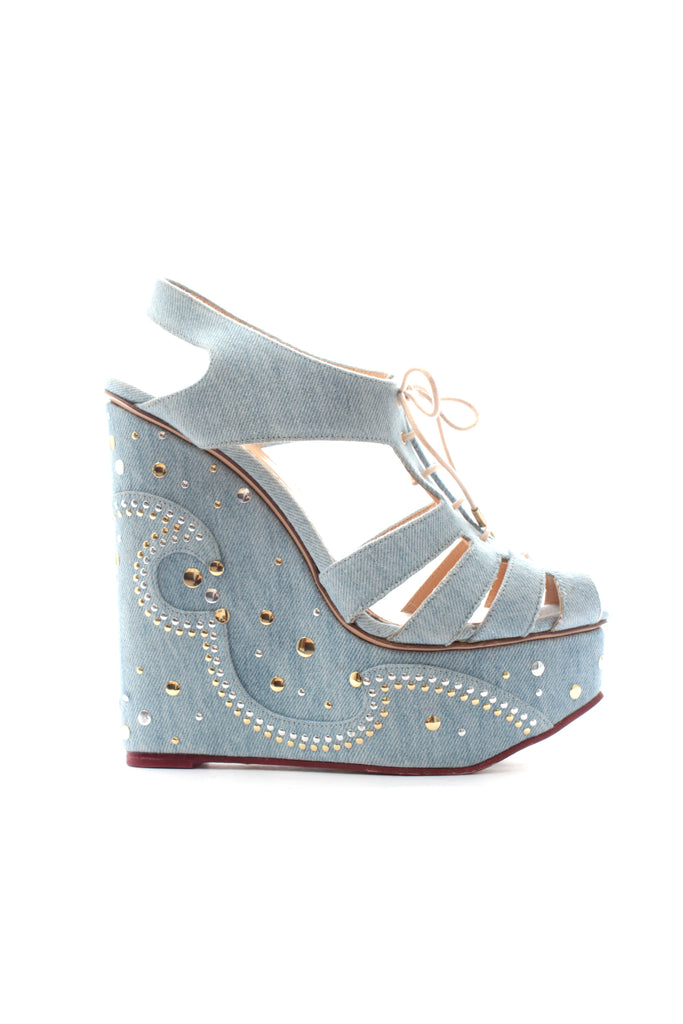 Charlotte Olympia Gene Studded Wedges Cheap Amazing Price hUhNSZz
