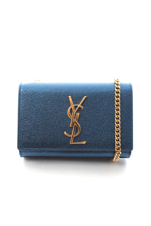 Saint Laurent Classic Small Kate Chain Leather Clutch Bag