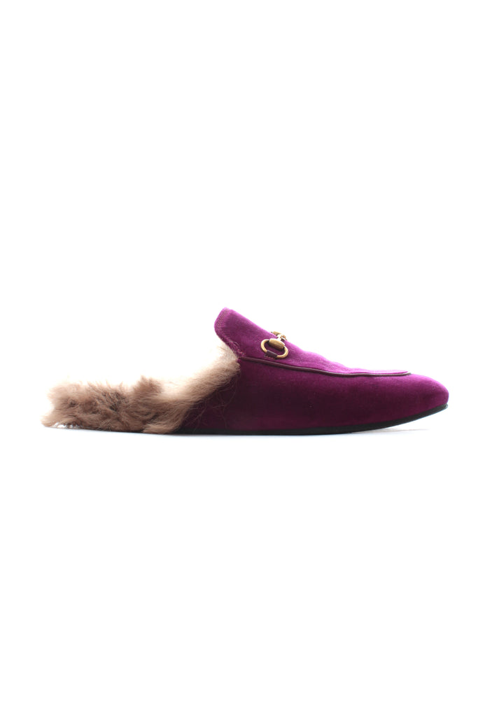 bedee5bfd7f Gucci Princetown Horsebit-Detailed Shearling-Lined Velvet Slippers – Closet  Upgrade