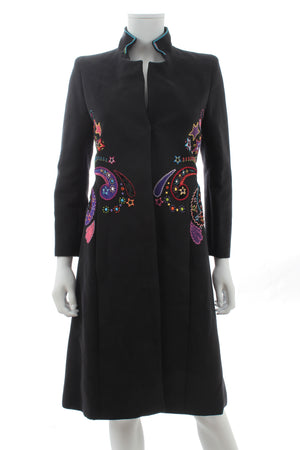 Gianni Versace Couture Embroidered Long Coat