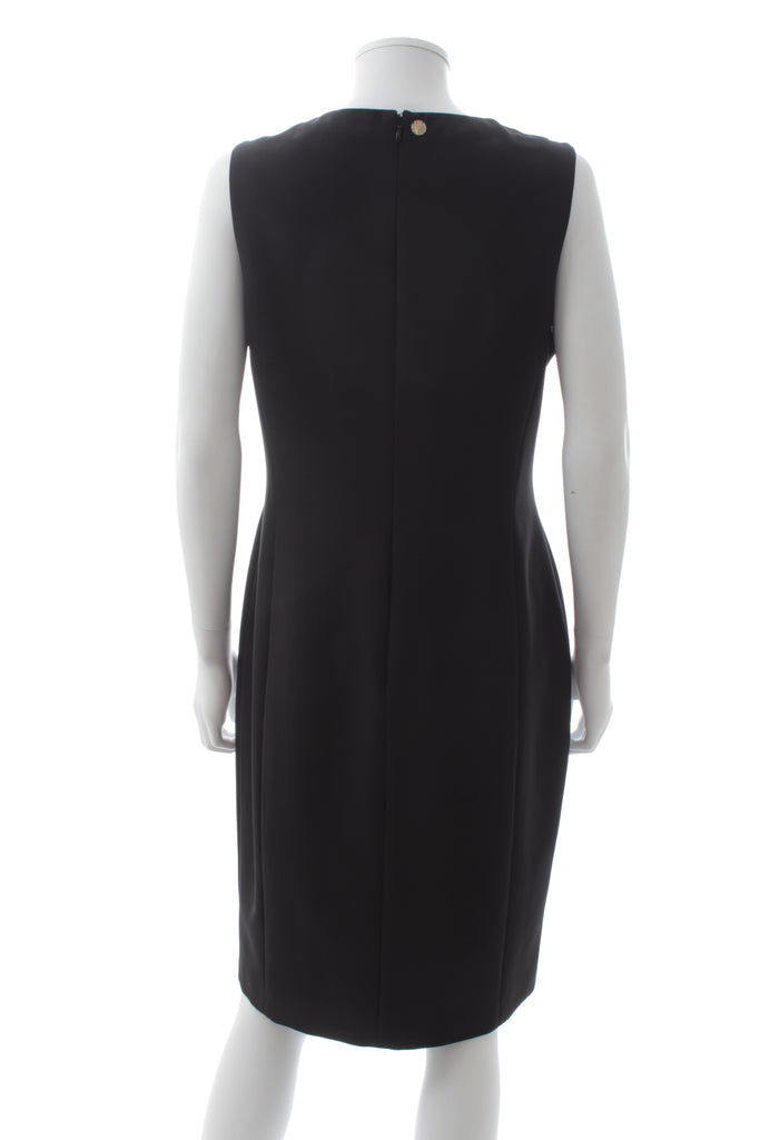 Versace Collection Stud-Embellished Crepe Dress